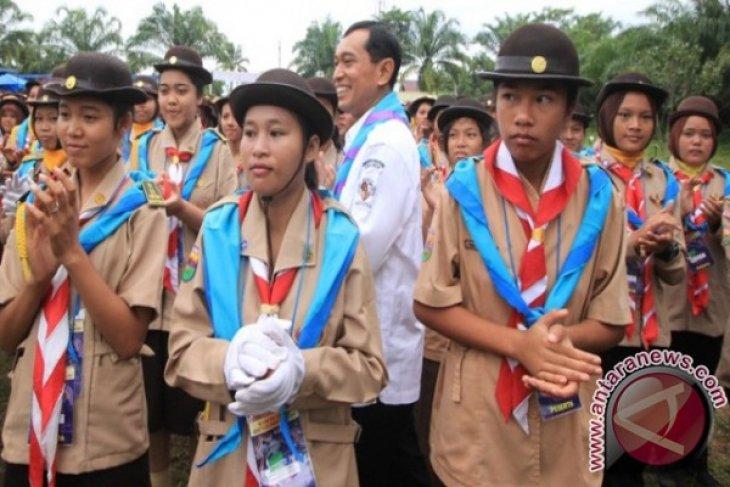 Bupati Simalungun Kunjungi Raimuna Kwartir Cabang