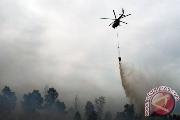Pemadaman api di lereng Gunung Arjuno gunakan