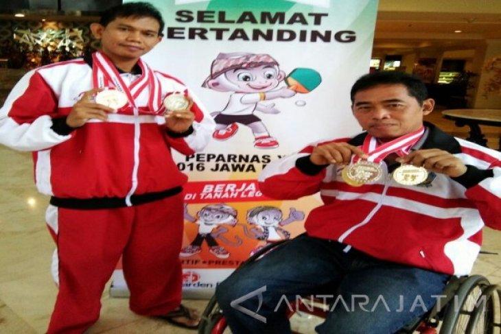 Atlet Disabilitas Situbondo Sabet Emas Papernas XV 2016