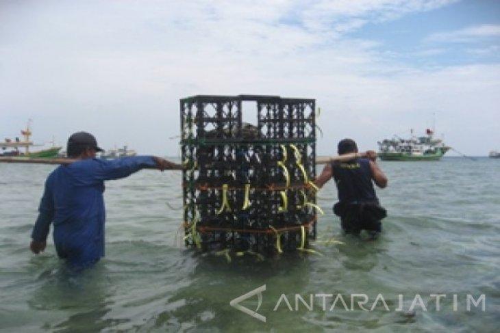 Diskanla Probolinggo Tenggelamkan 40 Modul Rumah Ikan