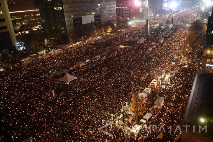 Korea Selatan Rayakan Pemakzulan Presiden Park Geun-Hye