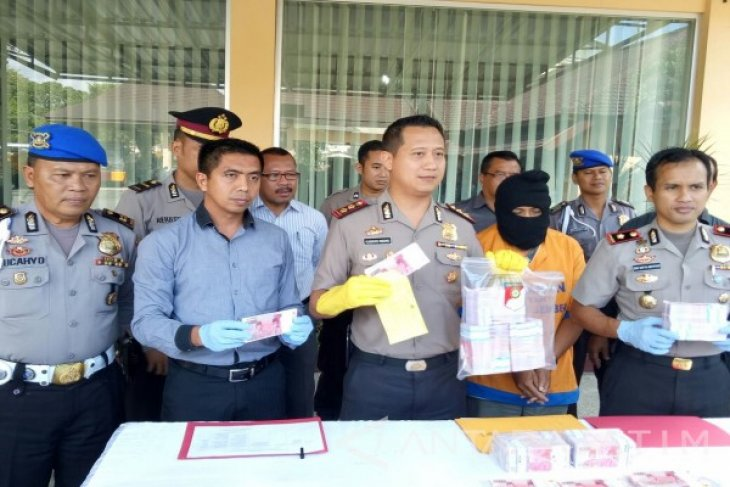 Polres Jember  Ungkap Peredaran Uang Palsu Rp650 Juta (Video)