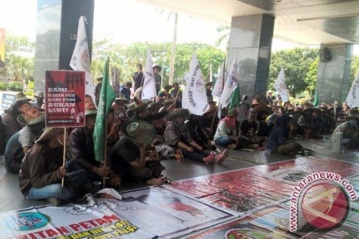 Petani Kaltim Demo Tuntut Pengembalian Lahan yang Dirampas