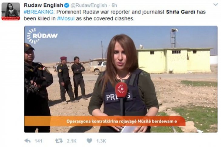 Iraqi female TV reporter killed in bomb explosion in Mosul