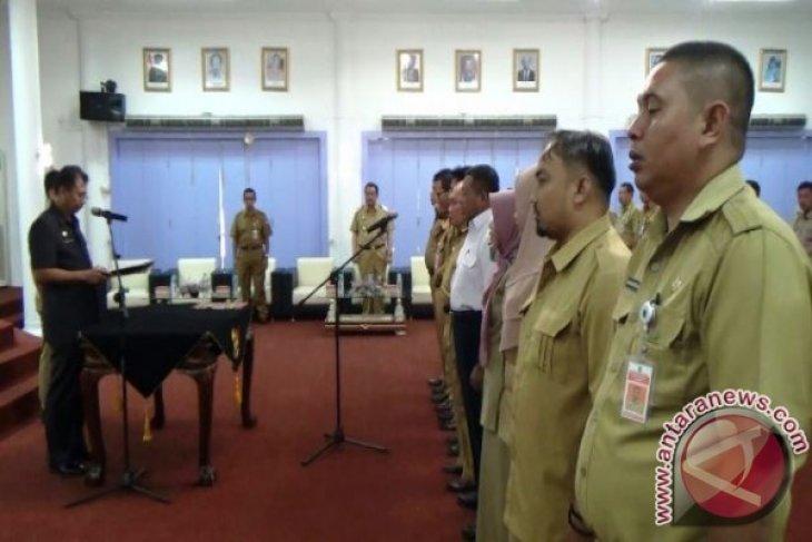 Sekda Paser Lantik Kembali Tujuh Pejabat