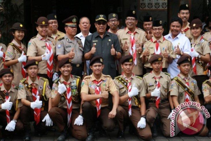Wabup Tabanan Melepas Kontingen Raimuna Nasional 2017