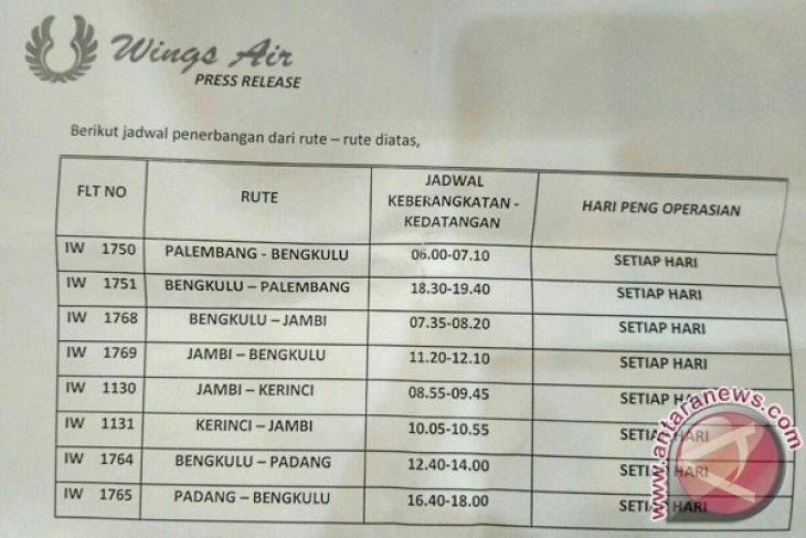 Wings Air Hubungkan Bengkulu Dengan Empat Provinsi Antara News Bengkulu
