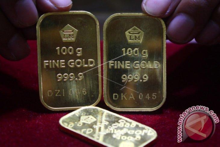 Kontrak emas berjangka turun