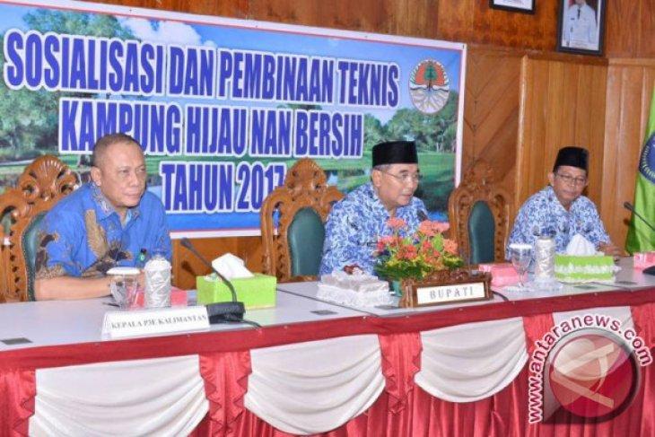 Pemkab HSS Bina Kampung Hijau dan Bersih