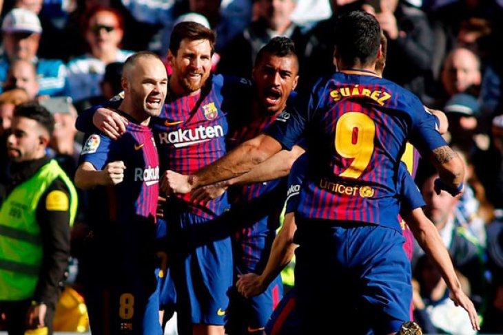 Real tak berkutik, Barca amankan tiga poin pada Clasico