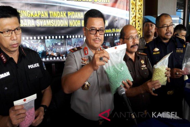 11.784 Butir Ekstasi Tanjung Pinang Gagal Beredar Di Kalsel