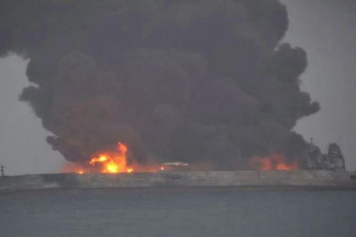 Tanker Minyak Iran Tabrakan Dengan Kapal China