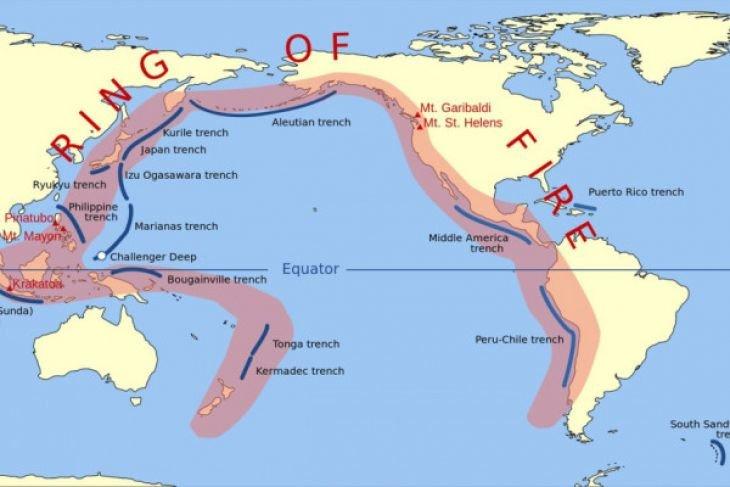 Pekan superaktif Cincin Api Pasifik, gunung meletus hingga gempa bumi
