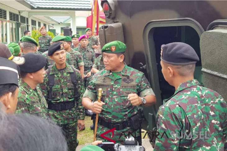 Kodam Sriwijaya perbantukan pasukan bantu  membatasi pergerakan orang