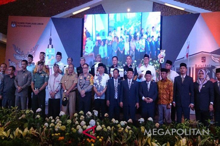 Empat paslon Pilwalkot Bogor deklarasi kampanye damai