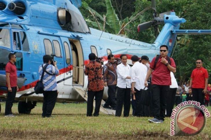 Presiden tiba di Kabupaten Dharmasraya