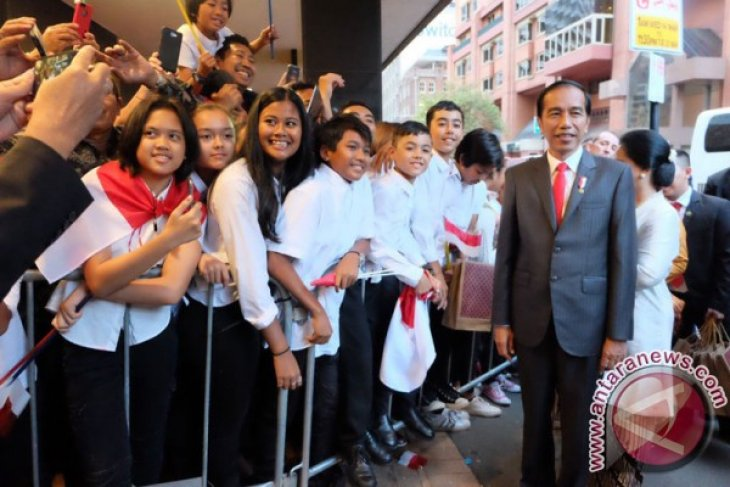 President Jokowi welcomed by Indonesians in Sydney