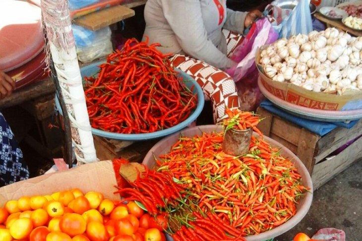 Harga cabai di pasar tradisional Ambon turun memasuki Ramadhan