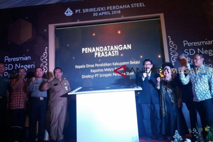 Pabrik logam Bekasi bantu bangun gedung baru SDN VI