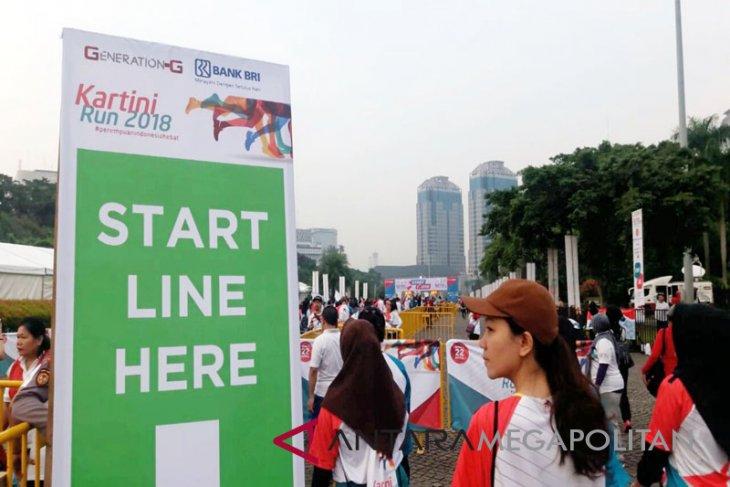 Kemeriahan Lomba 'Kartini Run 2018' di Lapangan Silang Monas (Video)