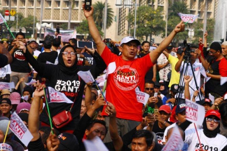 Sukarelawan #2019gantipresiden nilai polisi sewenang-wenang