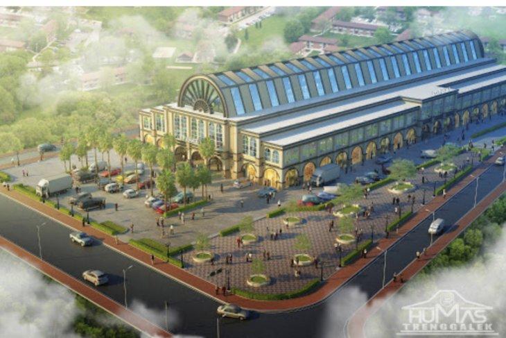 Pembangunan kembali Pasar Pon Trenggalek dibiayai APBN