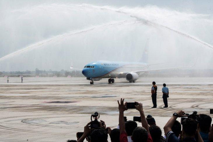 Indonesia One lands at Kertajati International Airport