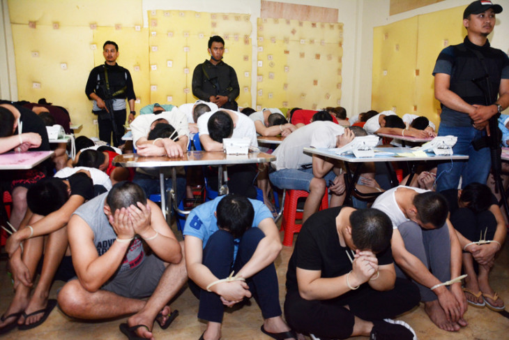 Bali police arrest 103 Chinese nationals for alleged cyber fraud