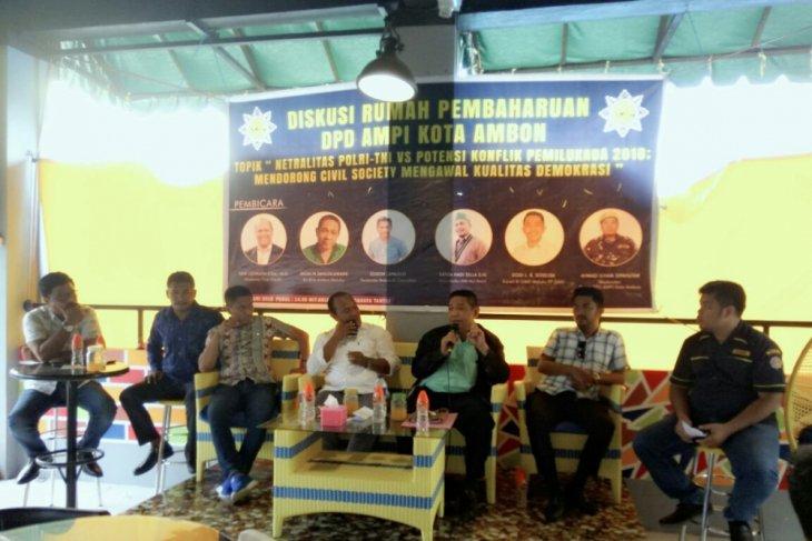AMPI Ambon Diskusikan Netralitas TNIPolri dalam Pilkada