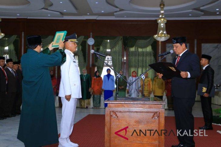 Dahnial Kifli dilantik Penjabat Bupati HSS