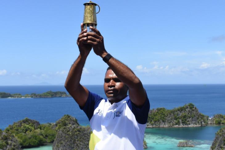 Asian Games torch promotes Raja Ampat tourism