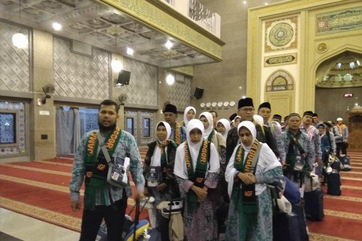 Penggalangan dana untuk korban gempa Lombok dari jamaah haji