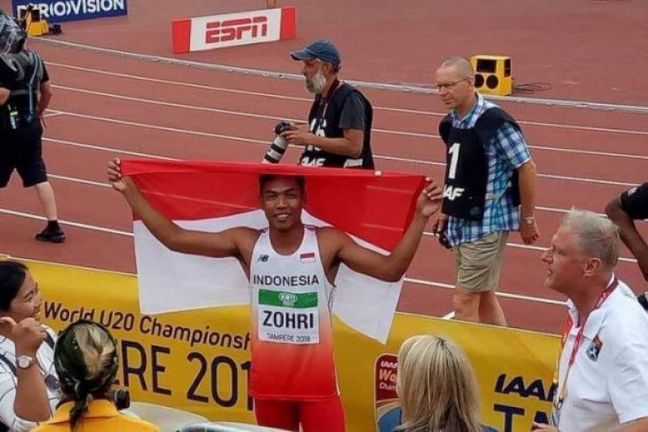 Lalu Muhammad Zohri sabet juara dunia lari 100 meter di Finlandia