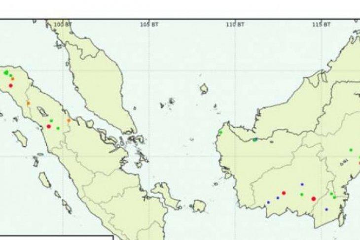 Polda Riau telusuri lima perusahaan terdeteksi titik api