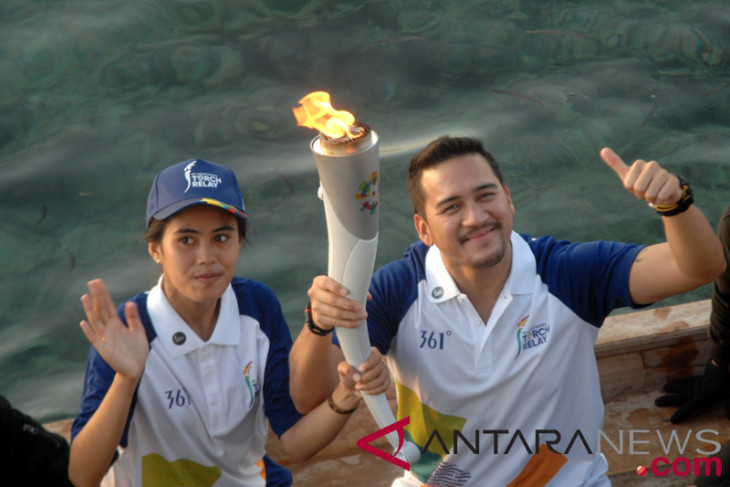 Asian Games torch relay arrives in Banjarmasin