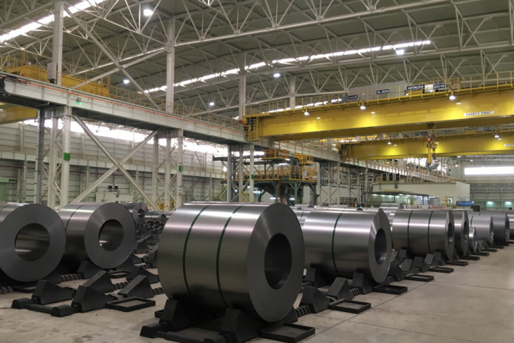 Automotive steel factory of KNSS comes on line