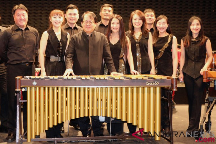 Taiwan`s percussion group performs at Salihara International Festival