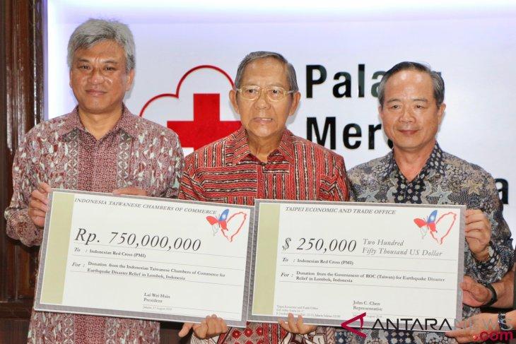 Taiwan donates US$310 thousand for Lombok earthquake victims