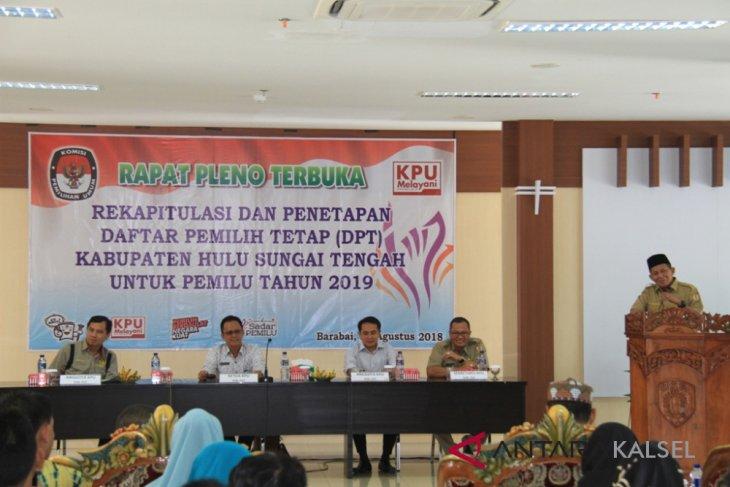 KPU tetapkan DPT Kabupaten HST 184.435 pemilih