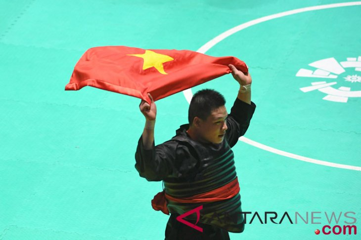 Asian Games (pencak silat) - Vietnamese athlete grabs gold medal after defeating Malaysia