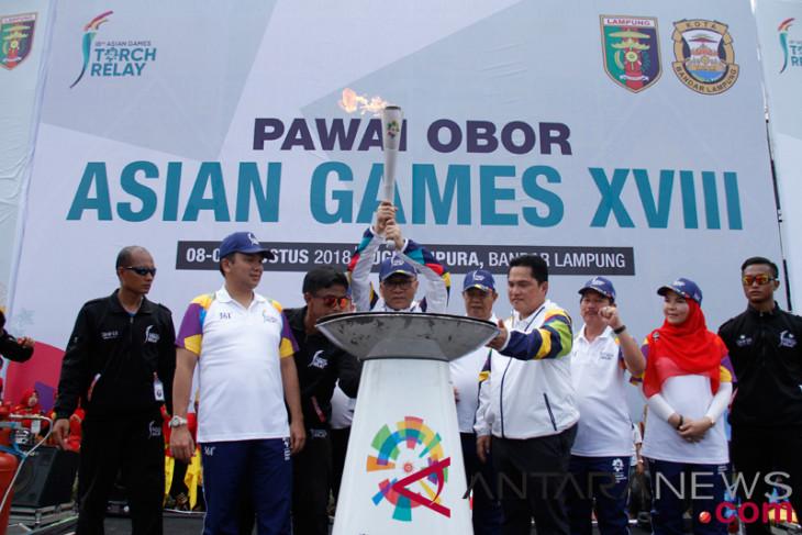 MPR chairman sends Asian Games torch 2018