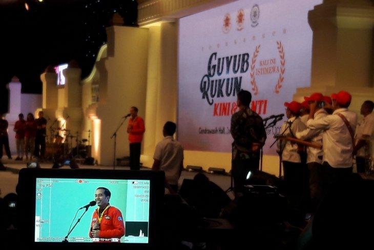 President Jokowi attends UGM alumni family`s gathering