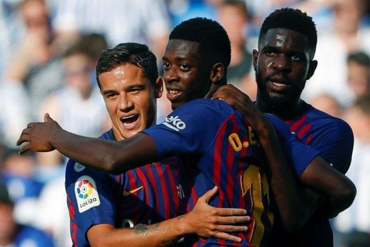 Barcelona harus susah payah kalahkan Sociedad 2-1