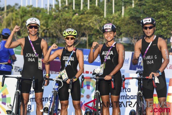 Asian Games (triathlon) - Japan wins gold medal in triathlon mixed relay