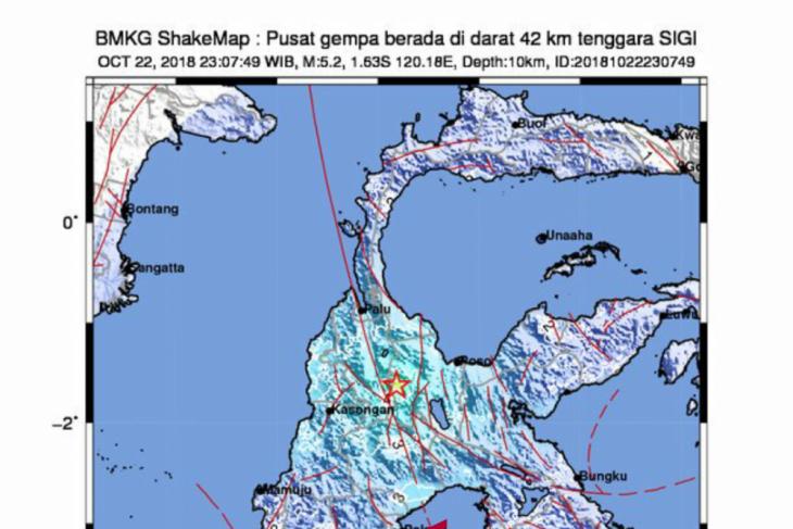 Earthquakes jolt C Sulawesi and W Nusa Tenggara