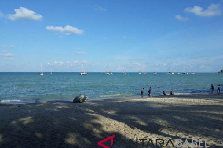 Belasan kapal yacht tiba di Pantai Tanjung Pesona Bangka