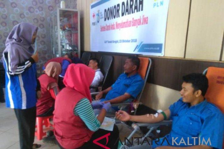 Peringati Hari Listrik PLN Paser  gelar donor darah