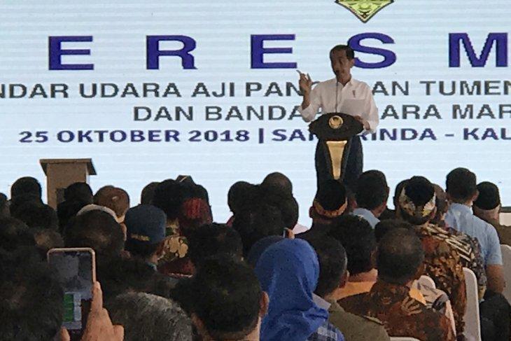 President Jokowi visits Samarinda to inaugurate new airports
