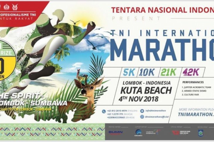 Around 6,000 runners join Mandalika`s TNI international marathon
