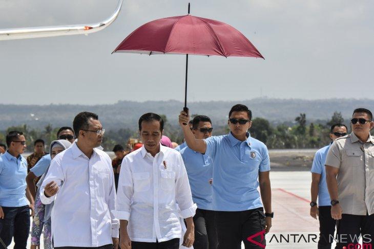 President again inspects handling of Lombok quake`s impact